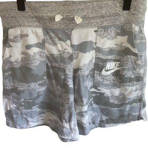 Nike Girls Vintage Camo Cotton Shorts